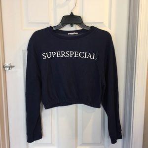 Zara Superspecial Cropped Sweatshirt